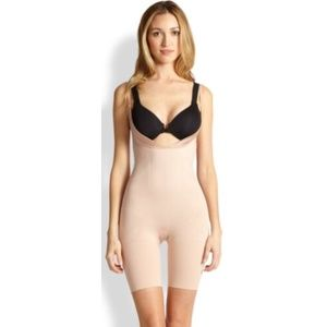 NWT SPANX Rose Gold Slimmer & Shine Bodysuit SZ M